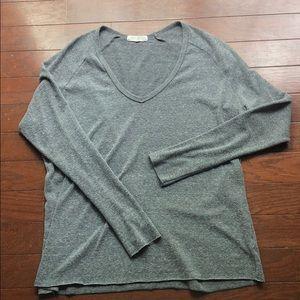 Joah Brown For Keeps V Neck Sweater OS Grey